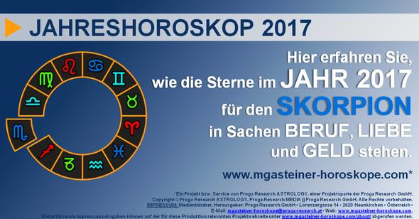 JAHRESHOROSKOP für den SKORPION (23. Oktober bis 21. November): Beruf. Liebe. Geld.