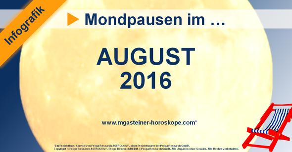 Die Mondpausen im August 2016