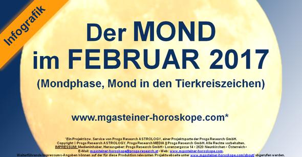 Der MOND im FEBRUAR 2017.