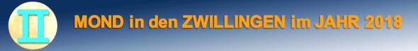 ZWILLINGSMOND im JAHR 2018.