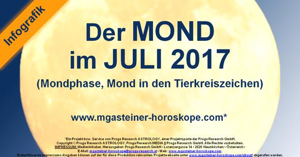 Der MOND im JULI 2017.