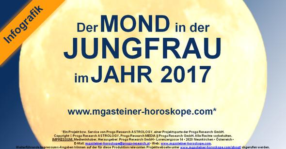 Der MOND in der JUNGFRAU im JAHR 2017.