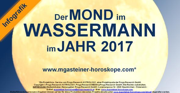 Der MOND im WASSERMANN im JAHR 2017.