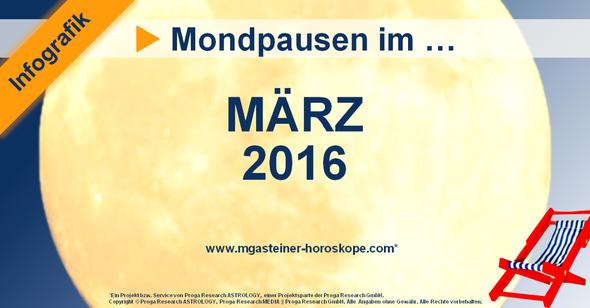 Mondpausen im März 2016.