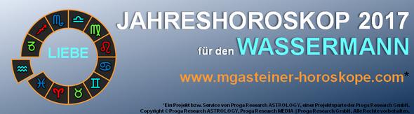 JAHRESHOROSKOP 2017 für den WASSERMANN: LIEBE.