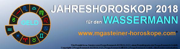 JAHRESHOROSKOP 2018 für den WASSERMANN: GELD.