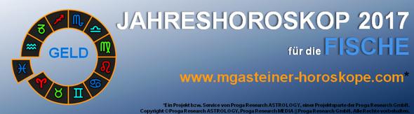 JAHRESHOROSKOP 2017 für die FISCHE: GELD.