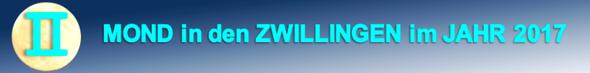 ZWILLINGSMOND im JAHR 2017.