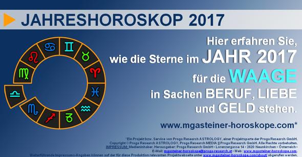 JAHRESHOROSKOP für die WAAGE (23. September bis 22. Oktober): BERUF, LIEBE und GELD.