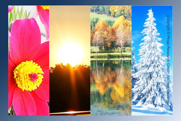 Kollage zu »Vier Jahreszeiten«  || Copyright © Proga Research GmbH (Michael Gasteiner)