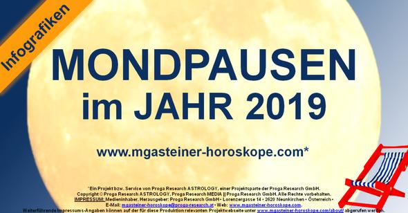 Die MONDPAUSEN im JAHR 2019.