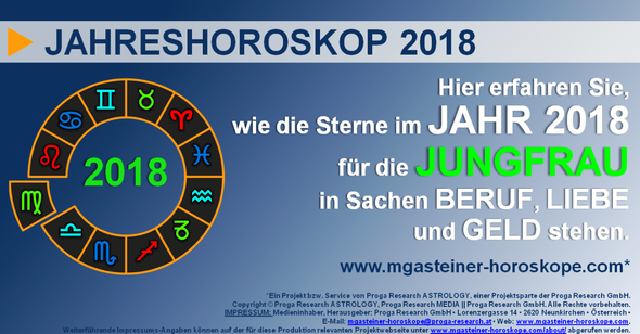 jungfrau 23 august bis 22 september jahreshoroskop 2018 beruf liebe geld mgasteiner. Black Bedroom Furniture Sets. Home Design Ideas
