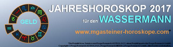 JAHRESHOROSKOP 2017 für den WASSERMANN: GELD.
