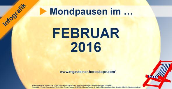 Die Mondpausen im Februar 2016.