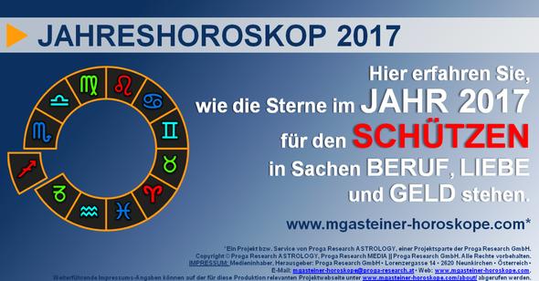 JAHRESHOROSKOP für den SCHÜTZEN (22. November bis 20. Dezember): Beruf. Liebe. Geld.