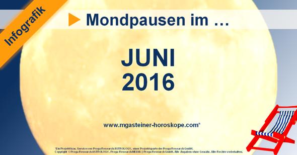 Die Mondpausen im Juni 2016.