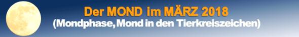 Der MOND im MÄRZ 2018.