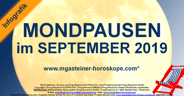 Die MONDPAUSEN im SEPTEMBER 2019