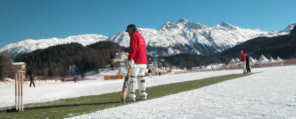 Cricket On Ice pitch