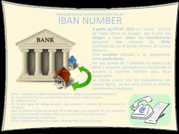 IBAN Number obligatorio para TODOS