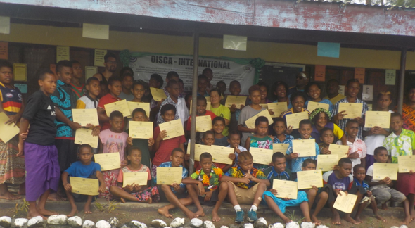 Group photo with certification