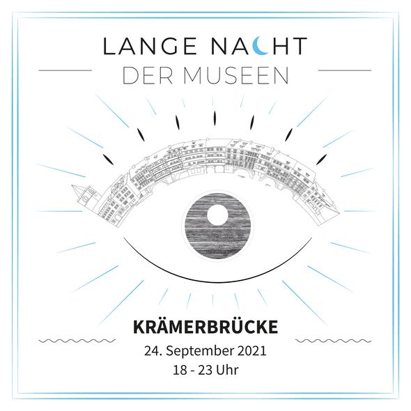 Qnik Logo Ladenfront Goldvorhang Schild Krämerbrücke Lametta