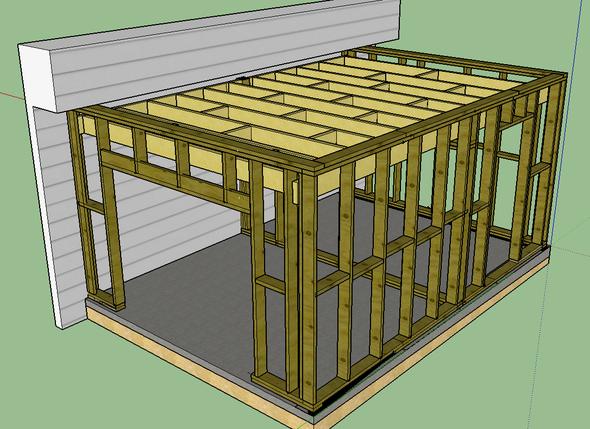 Construction D Un Garage En Ossature Bois Mob Camaret