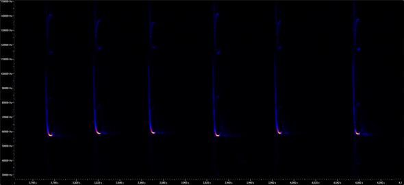 Spektrogramm der Mückenfledermaus (Pipistrellus pygmaeus) Leach, 1825