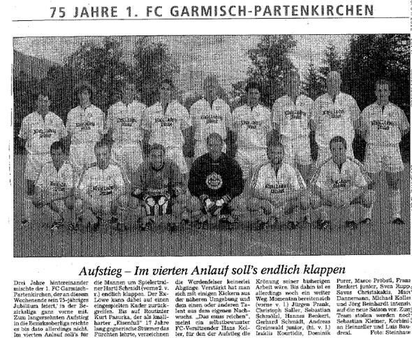 GaPa Tagblatt Juli 2003