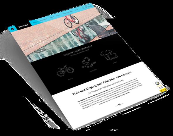 Webdesign Agentur: Shopware Onlineshop für die Hamburger Marke bonvelo