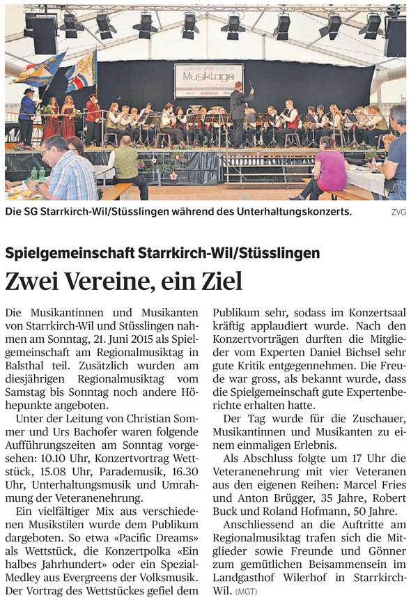 Oltner Tagblatt, 7.7.2015, S. 22