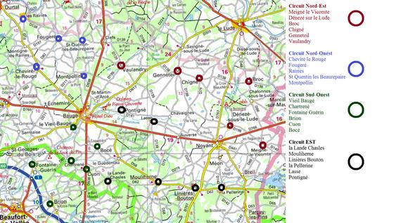 Plan des circuits du patrimoine 2013