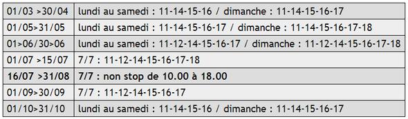 Horaires des Gabarres de Bergerac