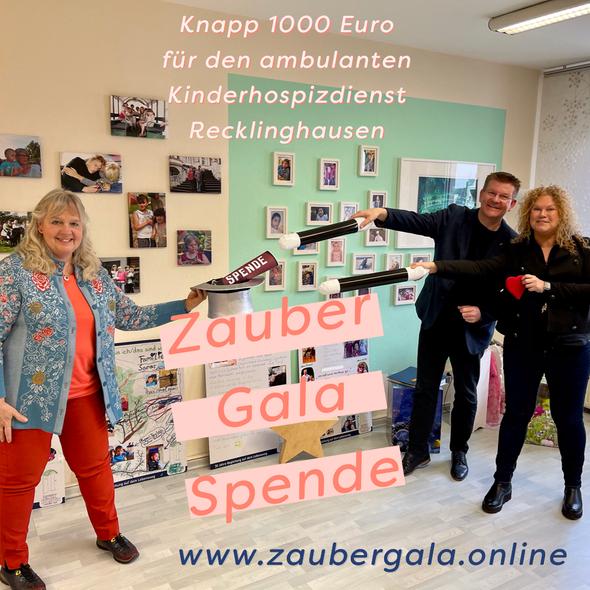 Spende Zaubergala Ambulanter Kinderhospizdienst Recklinghausen