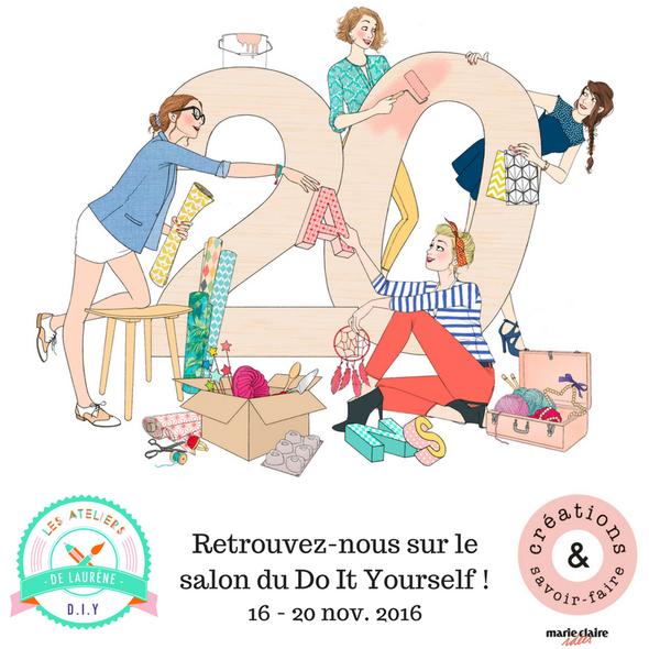 Blog diy les ateliers de laur ne ateliers cr atifs - Salon creations savoir faire invitation ...