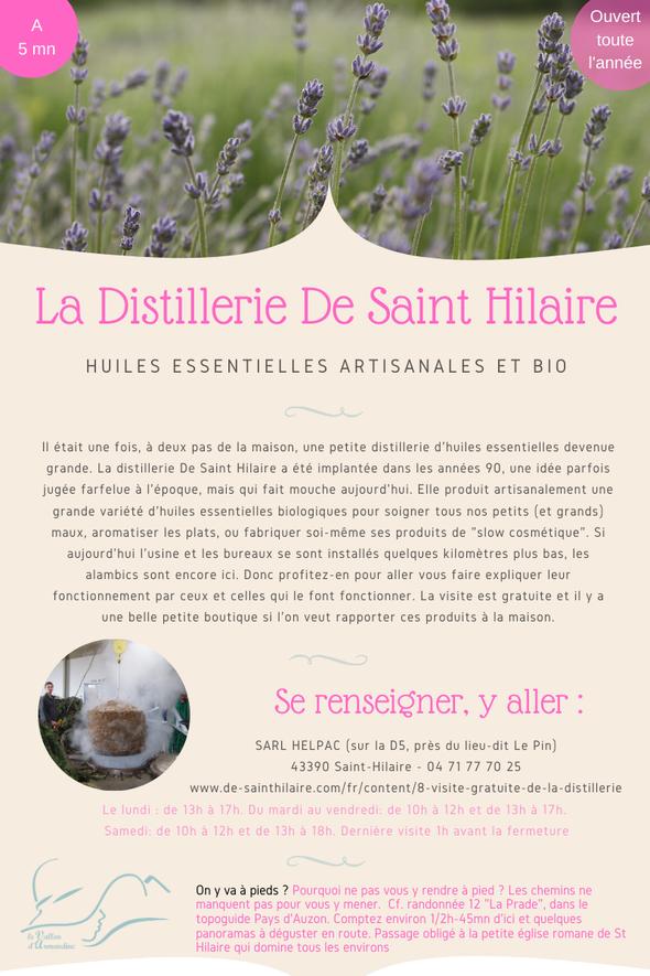 Distillerie d'huiles essentielles biologiques De Saint Hilaire