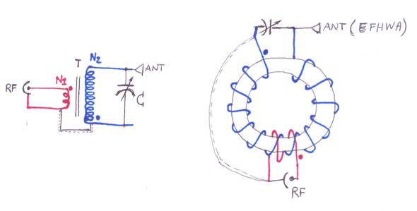 Schema Autotrasformatore su toroide de Iw2MXE