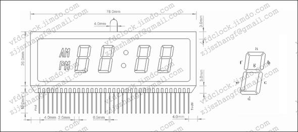 LD8140显示屏外观尺寸参数