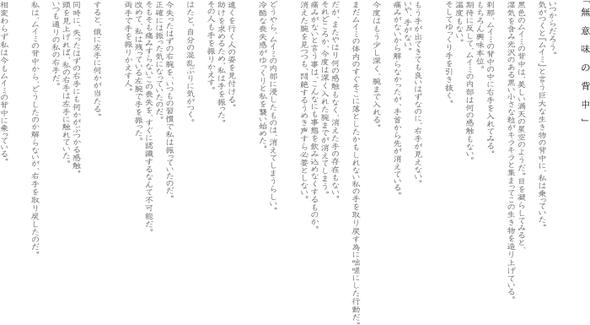 『無意味の背中』2009