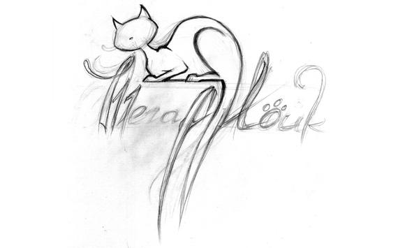 МЕГА Мойка - Вариант логотипа автомобильной МЯУ Мойки без воды