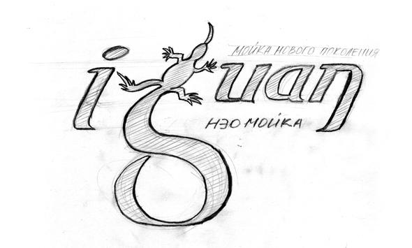 logo automated  car wash iguan логотип автомобильной авто мойки Игуан