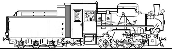 KP 4, КП 4, паровоз, train, чертеж, draw