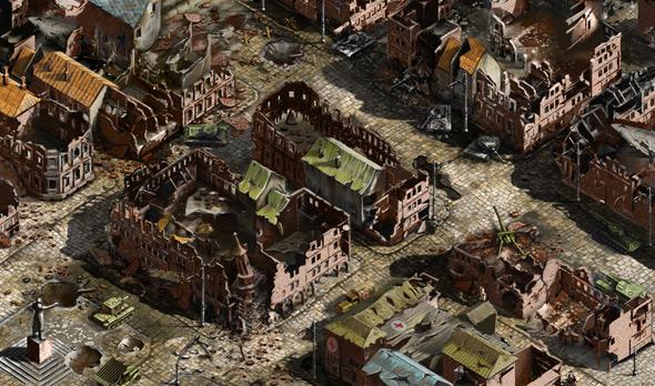 """Battlefield город 1 """"Плотный город"""" Состояние после активации секторов"""