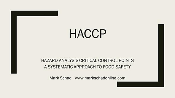HACCP Training in Florida - Mark Schad Online