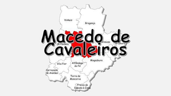 Localização do concelho de Macedo de Cavaleiros no distrito de Bragança