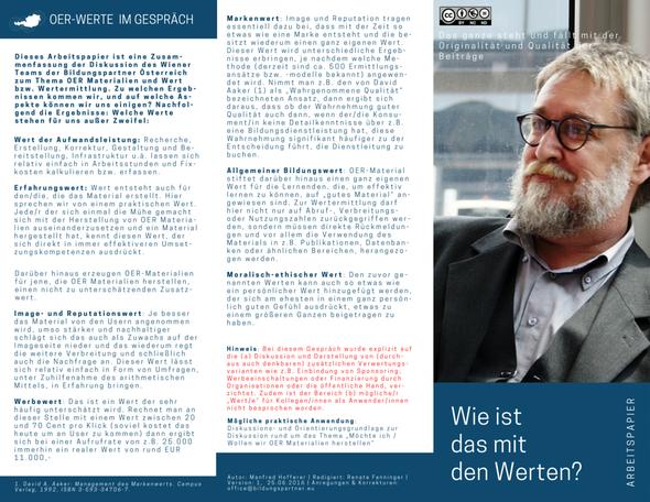Bildungspartner Österreich OER Werte im Gespräch