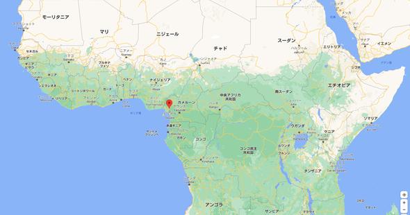 赤い印の位置がペンジャ地方