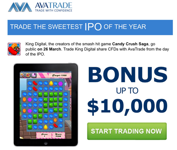 Ipo candy crush saga avatrade