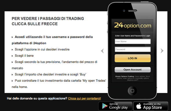 Binary Option Europe 24option mobile