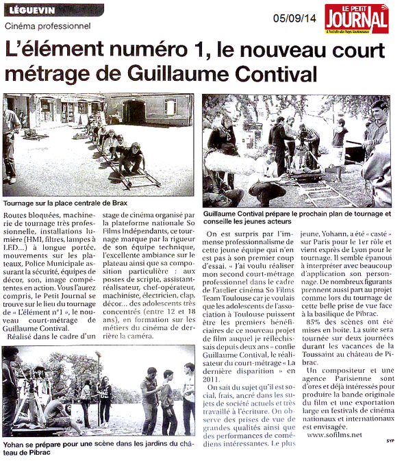 Le Petit Journal, le 05/09/14